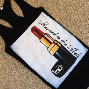 Married to the Mob Tops - Married To The Mob- Cool Lipstick Print Tank Top
